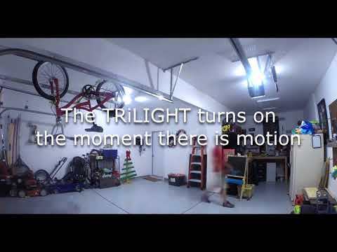 Striker Trilight Motion Activated Garage Ceiling Light