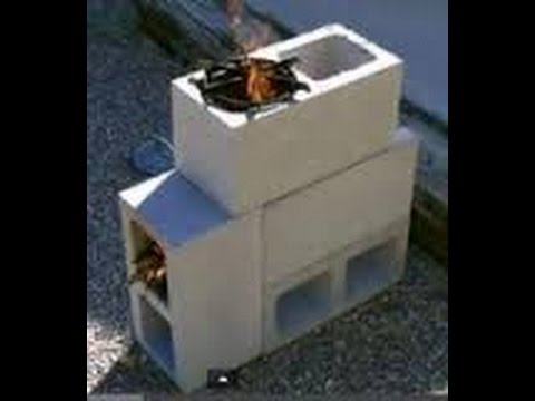 How To Make A Stove/Grill Out Of Cinder Blocks