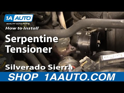 How To Install Replace Serpentine Tensioner Silverado Sierra Tahoe Yukon 4.8L 5.3L 6.0L 1AAuto.com