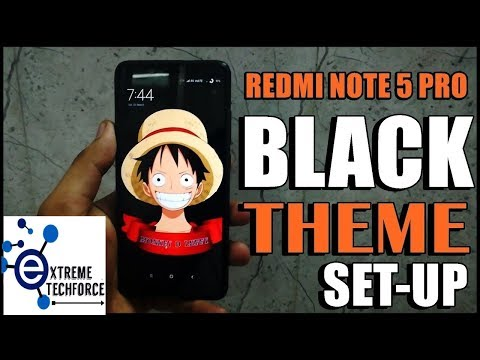 Redmi Note 5 PRO |  BLACK Theme Setup & Guide | MUST WATCH | 🔥