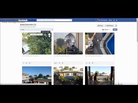 Combine albums on facebook