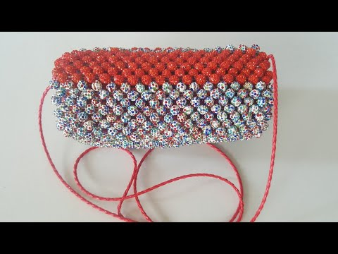 How to make beaded clutch party bag at home
