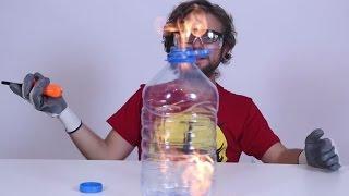 Download Pet Şişede Alkol Yakınca Ne Olur? - Siz Denemeyin Video