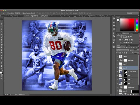 How To Make A Dope Complex Sports Edit on Photoshop   Victor Cruz