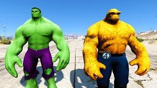THE THING VS THE HULK !!! GTA 5 Mods Battle