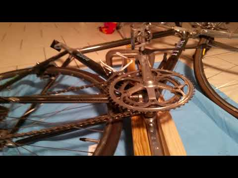 Removing Bicycle pedals which are stuck to the crank arm.