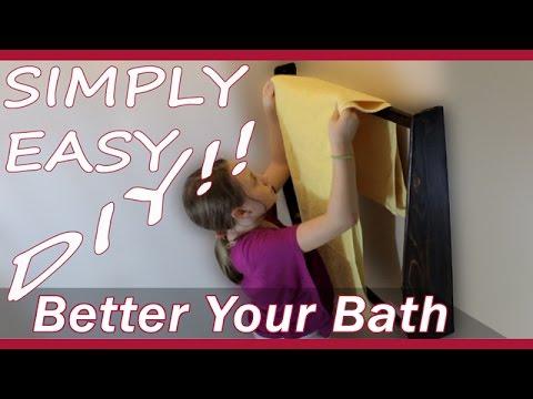DIY $3 Towel Holder