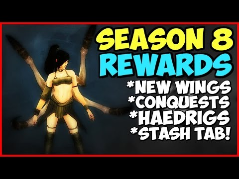 Diablo 3 Season 8 Rewards - New Wings Andariel, Stash Tab, Haedrigs Gift, Conquests
