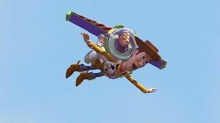 Toy Story (1995)  -  Woody \u0026 Buzz Use Sids Rocket To Fly