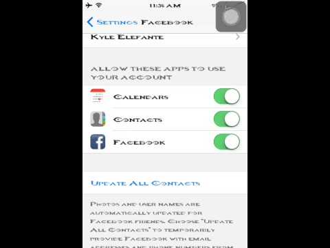 How to sync Facebook friends to contacts