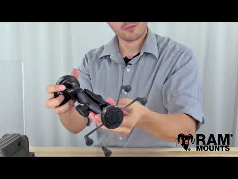 RAM® Twist Lock™ Suction Cup Mount with RAM® X Grip® Large Phone tablet Holder
