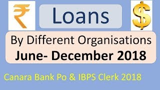 Loans Given To India By Different Organisations|| Ibps Clerk Mains 2018 || Canara Bank Po 2018