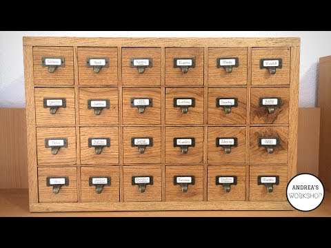 24 Drawer Apothecary Cabinet - Making of