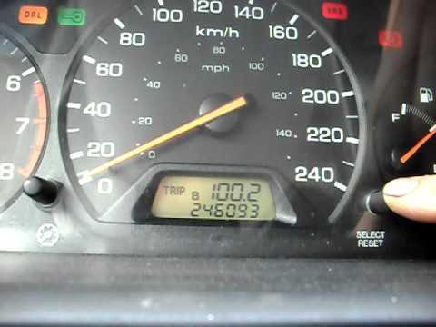 Resetting 1998 2002 Honda Accord Maintenance Required Light