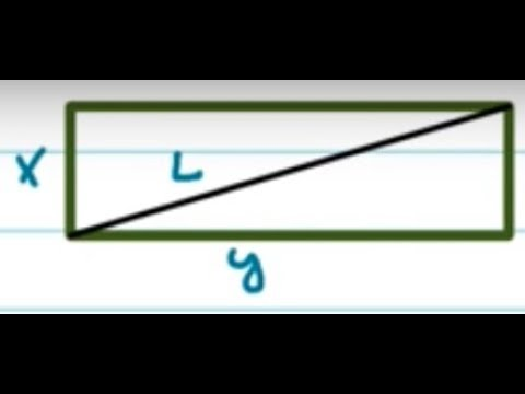 Related rates: Find the rate of change of the diagonal of a rectangle