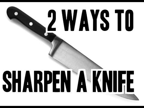 2 Ways To Sharpen A Knife ( Using Rod Or Coffee Mug )