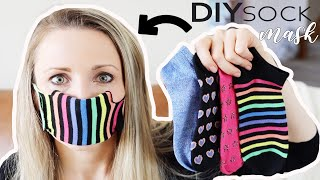 Easy DIY Sock Face Mask Video Tutorial (No Sew Method) | Crafty Caboodle