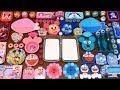 Special Series 23 DORAEMON And MICKEY MOUSE PINK Vs BLUE Mixing Random Things Into Glossy Slime