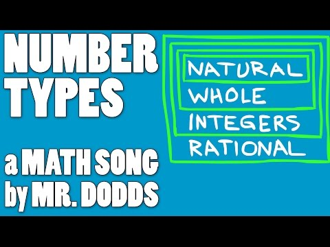 Colin Dodds - Number Types (Math Song)