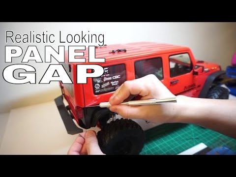 How To : Body Panel Gap / line - JPRC Axial SCX10 II 2017 Jeep JK Upgrade