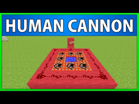 How to make a Human Cannon in Minecraft (Redstone Series #1)