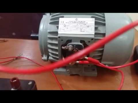 Speed control of 3 phase induction motor using with autotranformer