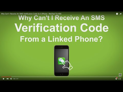 Why Can't I Receive An SMS Verification Code On A iPhone  - WeChat Tip #30