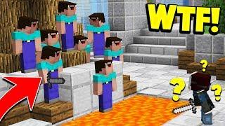 10 NOOBS VS 1 MURDERER! (Minecraft Murder Mystery Trolling)