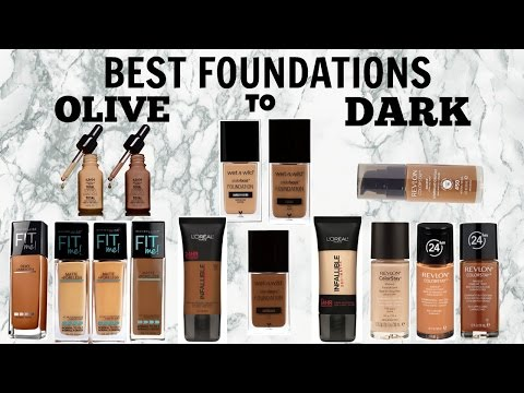 BEST Affordable Foundations For Women of Color | Olive to Dark Brown Skin 2017
