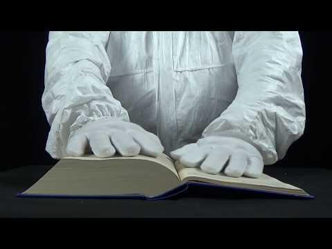 Turning page binaural sound – ASMR – thin paper pages (no talking)