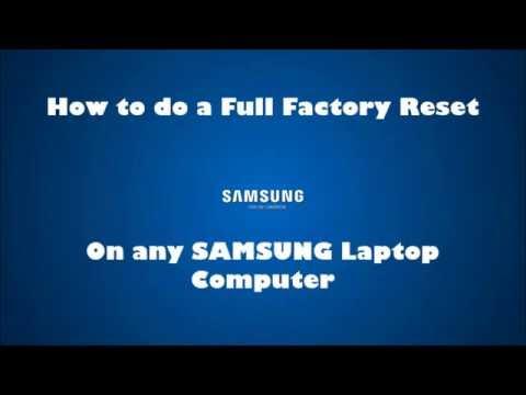 Samsung Laptop Factory Default Restore reinstall Windows (reset NP RV SF RF RC QX NP300 RC512 QX411)