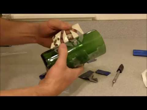 How to Cut a Glass Bottle with a Home Made Cutter & Etch It
