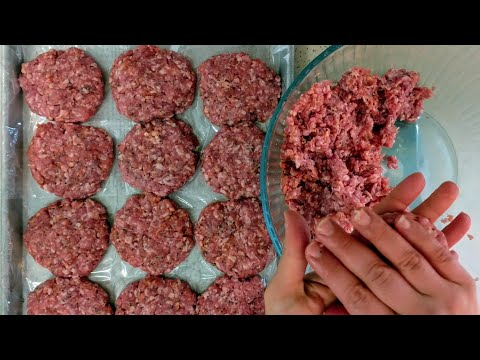 Black Pepper Pork Burgers || Freezer Recipe