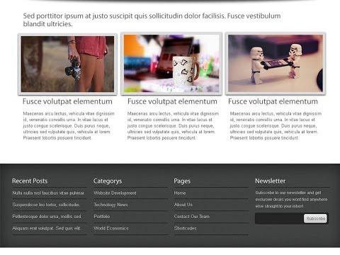 Create Web Template Design in Photoshop