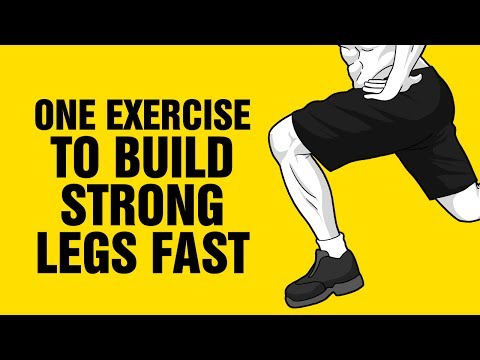 One Exercise To Build Strong Legs Fast - Best Lower Body Leg Workout - Sixpackfactory