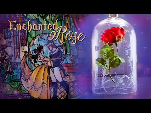 DIY Enchanted Rose | Beauty and the Beast Tutorial 🌷 Disney Magic!