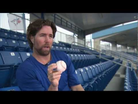 R.A. Dickey shows off the knuckleball