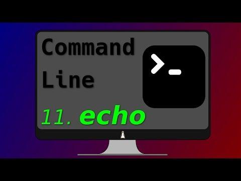 13. Echo command syntax
