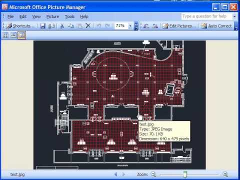 AutoCAD Tutorial Save your DWG into JPeg