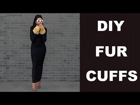 DIY: Detachable Fur Cuffs