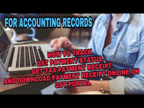 HOW TO TRACK GST TAX PAYMENT STATUS ON GST PORTAL AND GETTING A  PAYMENT RECEIPT BY GSTGUIDE
