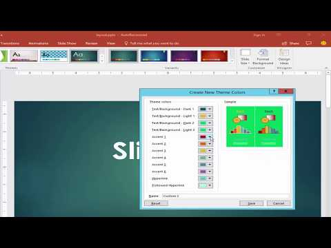PPT Tutorial- How to Change Slide Design Color in PowerPoint Document 2017