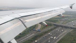 Low Clouds | British Airways A320 Landing At London Heathrow Airport