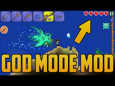 Terraria Android GodMode Mod | Unlimited Health and Mana (Never Die!!!) No Root Needed