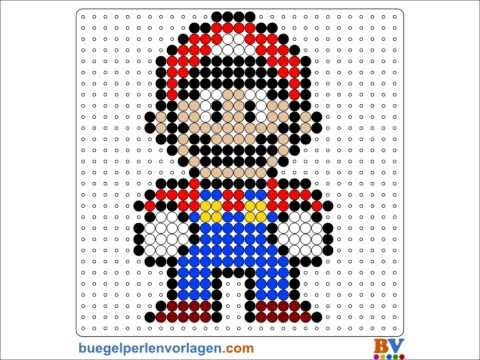 Perler Beads Tutorial - Super Mario Pattern