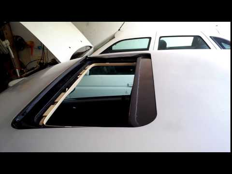 Saab 9-5 sunroof stuck and whindshild removel