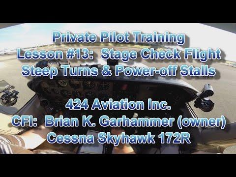 Private Pilot Flight Training, Lesson #13:  Stage Check Flight