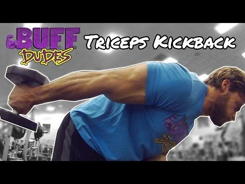How to Perform Dumbbell Triceps Kickback Exercise