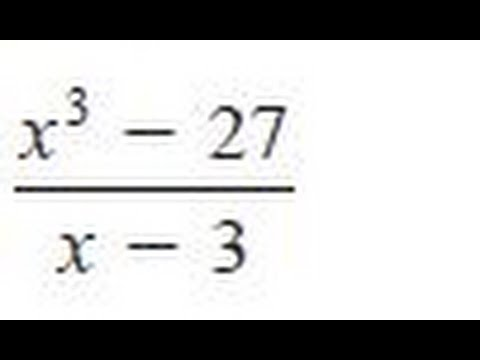 Find the quotient and remainder using synthetic division for (x^3 - 27) / (x - 3)