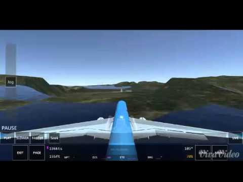 B757 landing at st.barth (infinite flight)